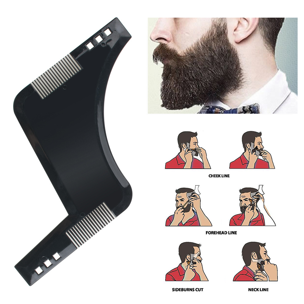 Men Beard Shaping Styling Black Templates Comb Men's Beards Combs Beauty Tool For Hair Beard Trim Template New Arrivals