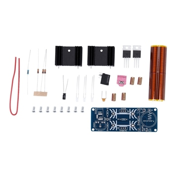 Mini muzyczny transformator tesli plazmowy głośnik tubowy pojedyncza rura samozasysająca cewka tesli ZVS|Akcesoria do głośników|   -