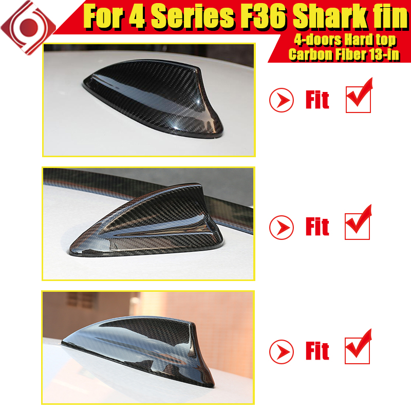 F36 Shark Fin Carbon For BMW F36 2 doors Hard top 4 Series 420i 428i 428ixD 430i 435i 440i Roof Antenna Shark Fin Cover 2013 in in Aerials from Automobiles Motorcycles