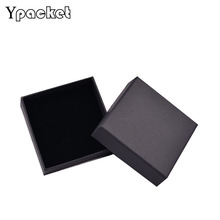 High Quality 10*10*3.5cm Free shipping wholesale 50pcs/lot Black Necklace Pendant Gift Packaging Boxes Box For Jewelry