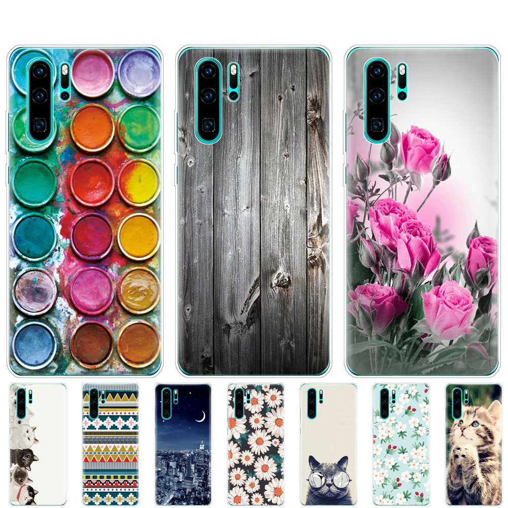 For Huawei P30 Pro Lite Case Coque Silicon TPU Phone Shell Cover On For Huawei P30  VOG-L29 ELE-L29 P 30 Lite Bumper Shockproof