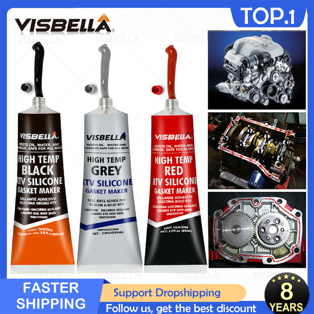 Strong Adhesive Glue Equipment Repair Paste High Temperature Sealant Neutral RTV Silicone Car Motor Gap Seal Glue Repair Tools