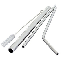 New 4pcs/set Stainless Steel Drinking Straws Reusable Metal Dishwasher Safe Environmentally Friendly Straw