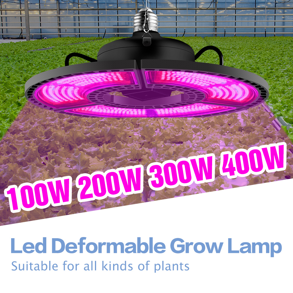 E27 Led Grow Light 400W Panel Full Spectrum Phyto Lamp For Flowers E26 Lamp For Plants Hydroponics Light Leds Indoor Grow Tent