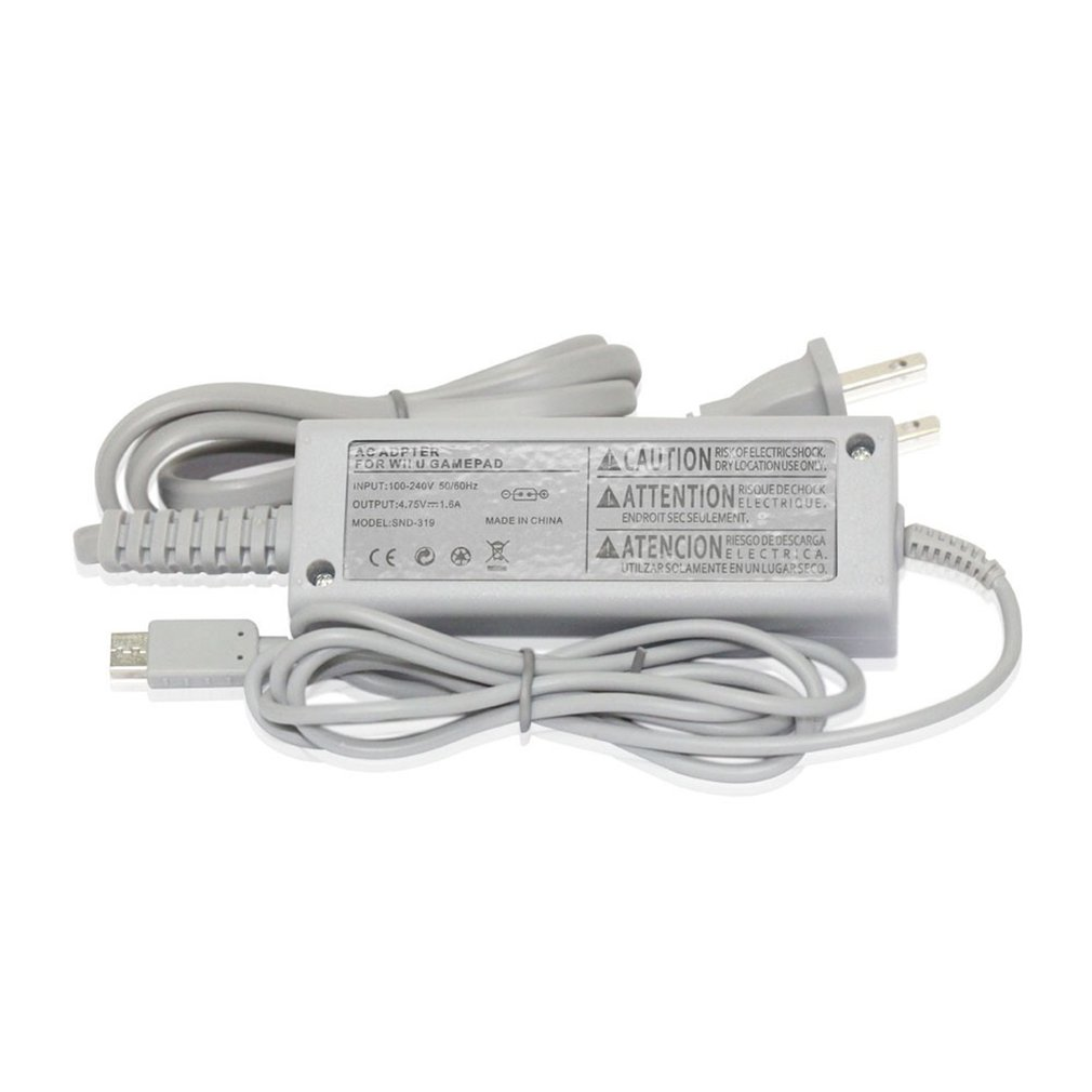 Universal 100 240V Wall AC Adapter Power Charger GamePad Charger Cord Power Supply Charger Cord For Nintend Wii U Console