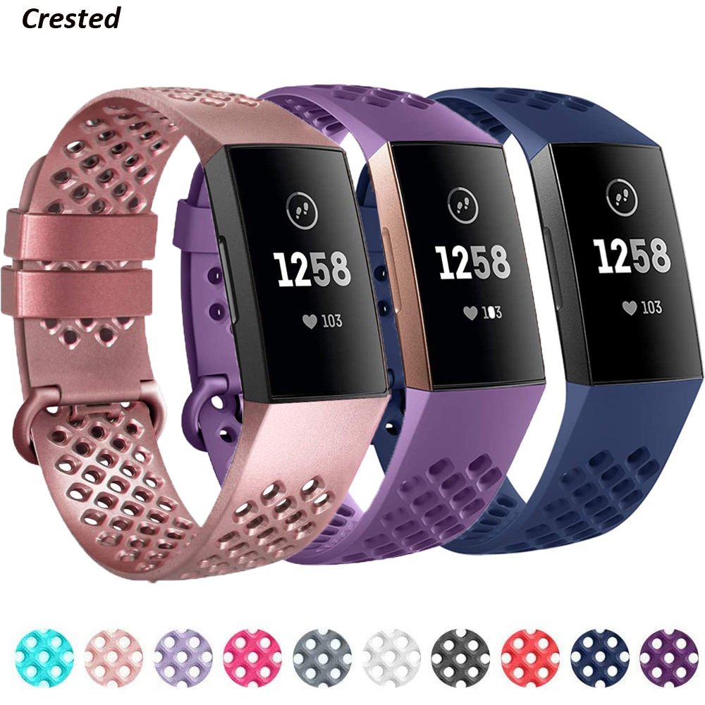 Silicone Strap For Fitbit Charge 3 SE Band Replacement Watchband Charge4 Smart Watch Sport Wrist Bracelet Fitbit Charge 4 Band