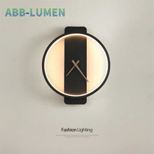 Wall Lighting clock led wall lamp bedroom light nordic wall lamps for living room wall decor bedside lamp led wall Light home bokt led bedroom bedside wall lamp nordic minimalist macaron background wall light for living room bedroom aisle hallway