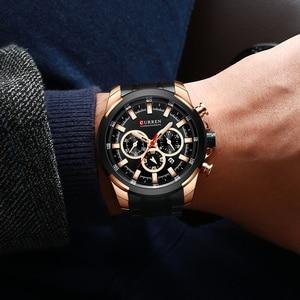 Image 4 - CURREN Classic Black Chronograph Mens Watch Sports Quartz Date Clock Male Watch Stainless Steel Wristwatch Relogio Masculino