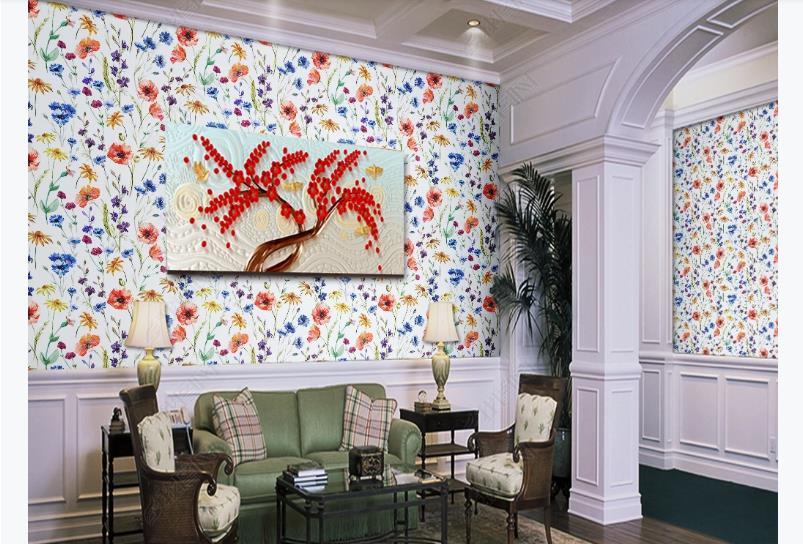 Modern Wallpaper Murals Floral Photo Wallpaper Living Room Home Decor Printing Art Bedroom Murals