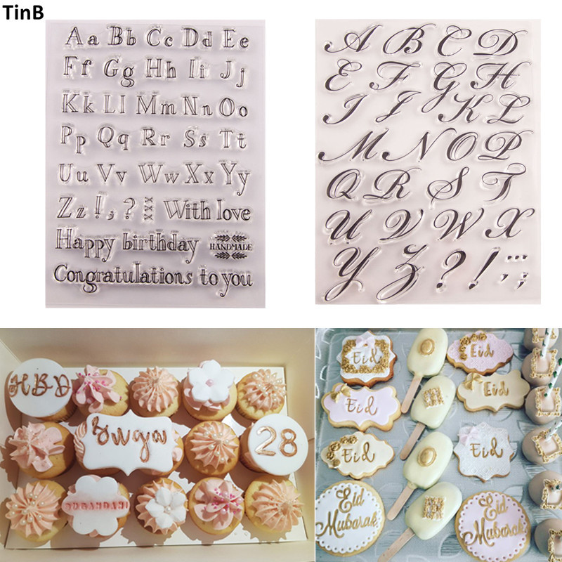 Cake Tool Letter Alphabet Cookie Cutter Embosser Stamp Sticky Decorating Sea Horse Christmas Fondant Cutter Tools Sugarcraft