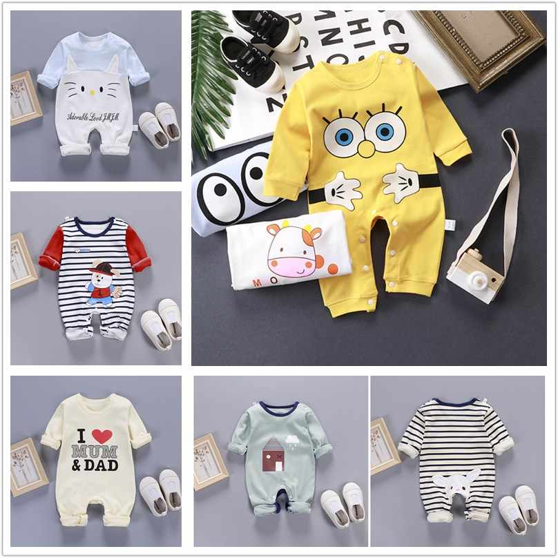 New Baby's Jumpsuit Cotton Clothes for Boys and Girls In Autumn and Winter, Clothes for Newborns Children Crawling Children