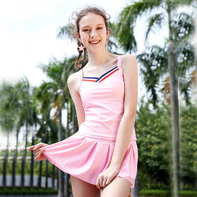 2018 Hot Selling Webbing KID'S Swimwear Korean-style Modern And Trendy/women Big Kid Split Type Swimwear Manufacturers Wholesale