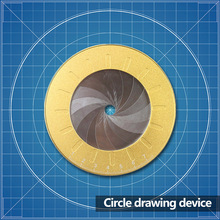 Adjustable Circle Drawing Tool 304 Stainless Steel Measuring Strong Toughness Wooden Portable Drawing Circular