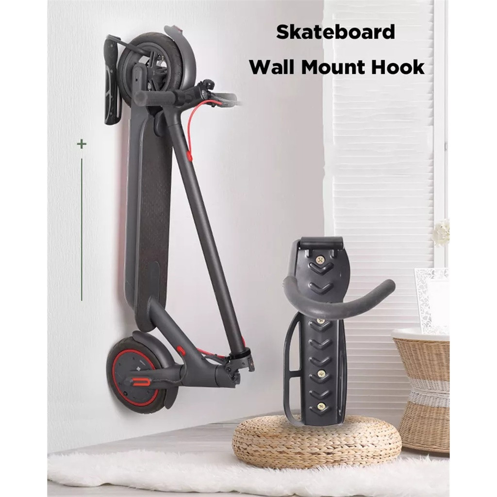 Купить с кэшбэком Black Wall Mount Hanger For Xiaomi M365 / Pro For Ninebot Es1 Es2 Electric Scooter Material Steel Accessories Max Load 50kg#P25