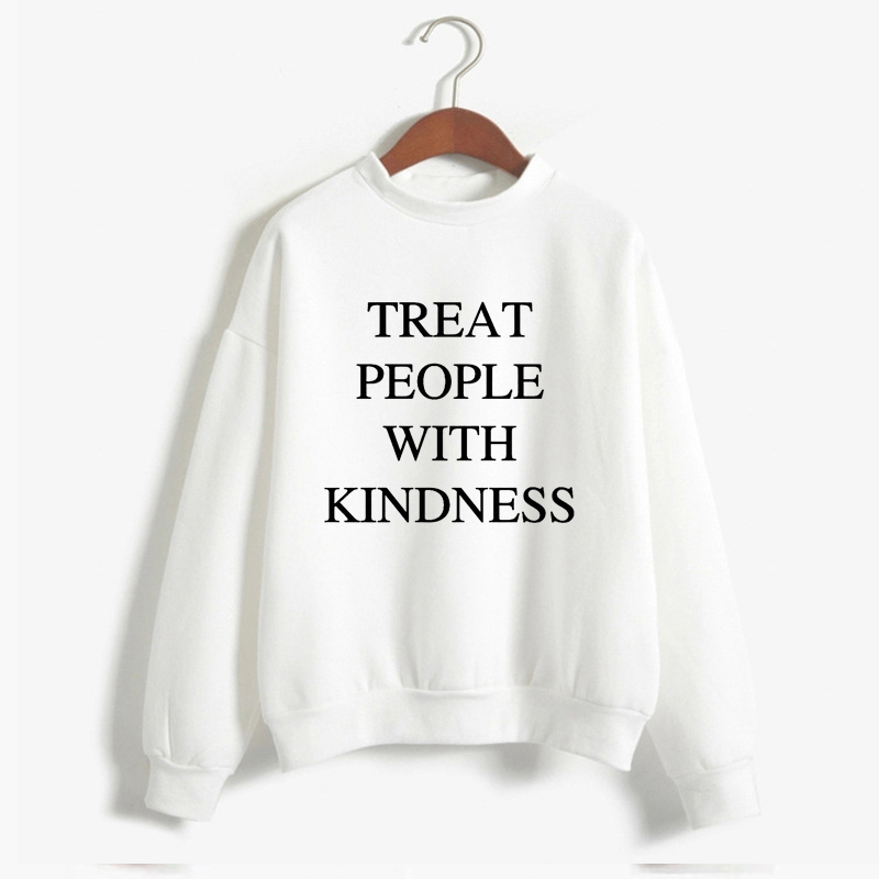 Autumn Winter  Harry Styles Treat People With Kindness Women'S Sweatshirt Casual Warm Pullover Hoodie Female Jumper Long Sleeve