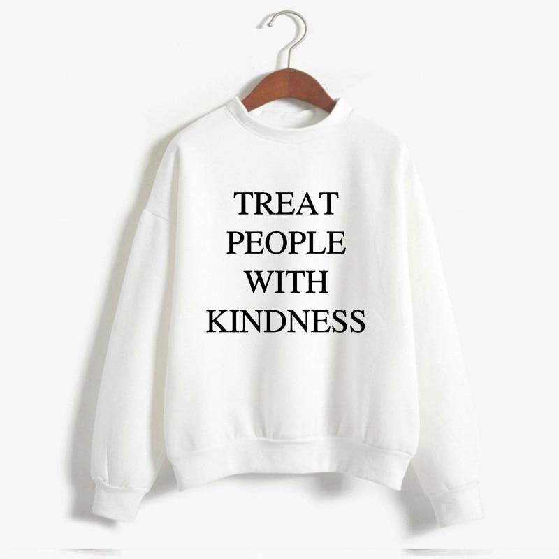 Autumn Winter  Harry Styles Treat People With Kindness Women'S Sweatshirt Casual Warm Pullover Hoodie Female Jumper Long Sleeve