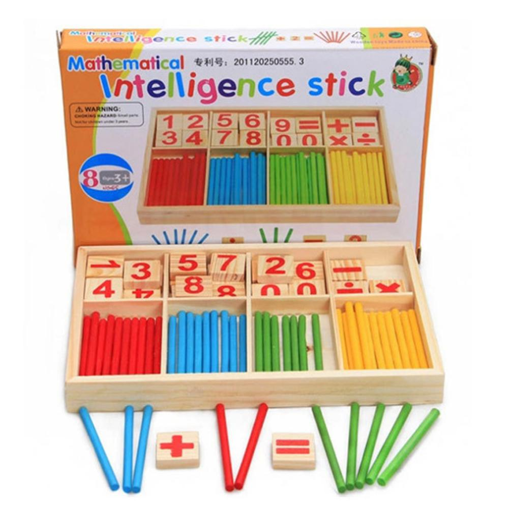 Preschool Educational Toys Wooden Mathematical Intelligence Stick Block Counting Sticks For Girls And Boys