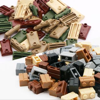 Kompatybilny wojskowy bazowy worek z piaskiem cegły budowlane akcesoria do broni pakiet żołnierze sił zbrojnych WW2 klocki budowlane dla dzieci tanie i dobre opinie Unisex 6 lat Mały budynek blok (kompatybilne z Lego) compatible with LEGO blocks Heavy Machine gun blocks Do not sallow
