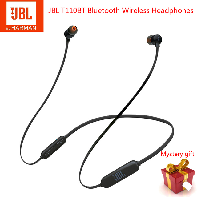 JBL T110BT Bluetooth Headphones Stereo Sports Running Headset With Microphone