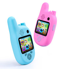 Hot 1080P Children Walkie Talkie with VCR,Mp3 Video Recorder Photo 8Million Pixels Smart Digital Camera Kids Puzzle Games Gift