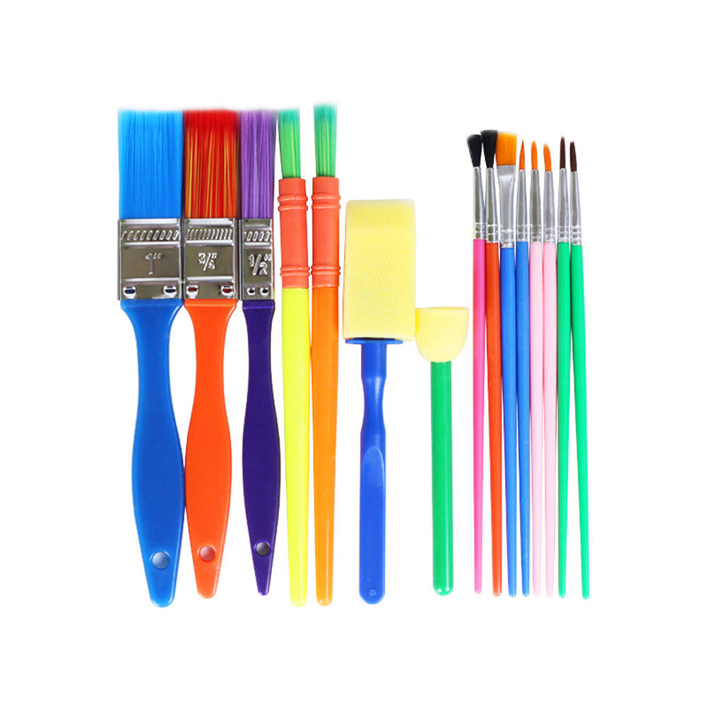 DIY Plastic Eco-friendly Watercolor Oil Paint Brush Durable Gift For Children Painting Practice Multisize Multi-use Practical