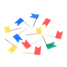 50PCS Color Flag Map Push Pins Office Home School Supplies Cork Board Map Drawing