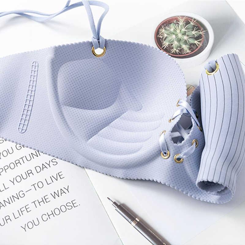 חלקה חזייה לנשים לדחוף את Bralette סקסי פסים הלבשה תחתונה אלחוטי חזייה נשי תחתונים מקורבי חדש # F