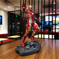 50CM Avengers: Endgame Iron Man MK43 Full Length Portrait Resin Statue Action Figure Collection Model Toy X4418