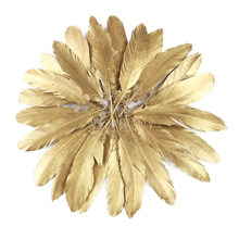 Wholesale 10-500 Gold Goose Rooster Feathers for Crafts Wedding Party Home Decoration Jewelry Making Plumes Diy Supplies