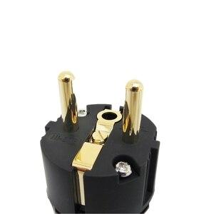Image 3 - Oyaide C 079 P 079e Schuko אירופה האיחוד האירופי כוח תקע 24k מצופה זהב IEC אודיו מחבר נקבה זכר MATIHUR אודיו hifi
