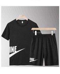 Zomer Toevallige Mannelijke Trainingspak Kleding Mannen Set Fitness Pak Sporting Suits Korte Mouw T-shirt + Shorts Sneldrogende 2 delige Set