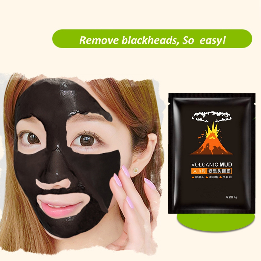 Cheap Face Care Volcanic Mud Nose Blackhead Cleaning Stickers Facial Pores Blackhead Remover Mask Skin Fat Granule Cleanser MASK