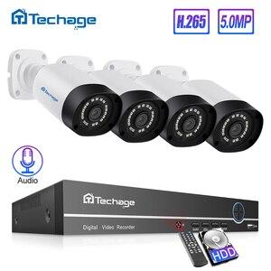 Image 1 - H.265 8CH POE NVR ชุด 5MP ระบบกล้องวงจรปิด IR กลางแจ้ง IP66 กันน้ำ 5MP กล้อง Ip P2P Onvif ระบบรักษาความปลอดภัยวิดีโอการเฝ้าระวังชุด