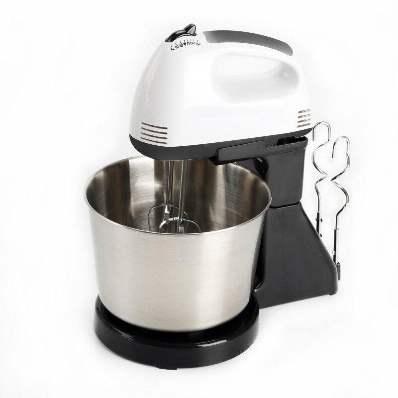 Электрический миксер для пищевых продуктов, Ручной Кухонный блендер для взбивания теста и выпечки, 7 скоростей