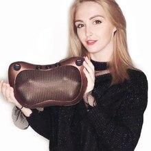 Massage-Pillow Vibrator Shiatsu Relaxation Electric-Shoulder Infrared Back-Heating-Kneading