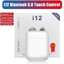 I12 TWS Wireless Earphones Mini Earbuds Bluetooth 5.0 Stereo Sport Headphone for