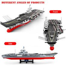 DZDA 3010 Pcs Aircraft Carrier Shandong Building Blocks Moc 1:350 Aircraft Carrier Model Building Bricks Toys For Children Gift