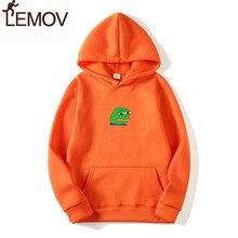 2018 Men/Women Sad Frog Print Sportswear Hoodies Male Hip Hop Fleece Long Sleeve Hoodie Slim Fit Sweatshirt Hoodies for Men недорого