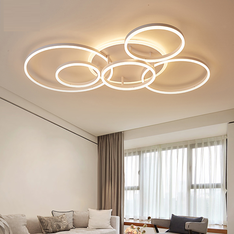 Image 2 - Brown/white led chandelier For Living Room Bedroom kitchen chandelier Inddor Home Lighting modern chandelier Lighting lampadari-in Chandeliers from Lights & Lighting