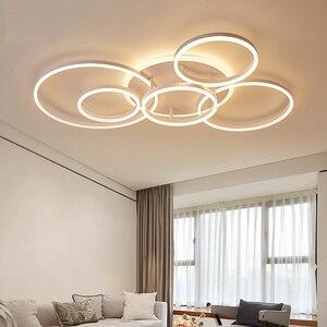 Image 2 - חום/לבן led נברשת לסלון חדר שינה מטבח נברשת Inddor בית תאורה מודרני נברשת תאורה lampadari
