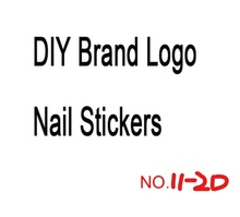 цена на DIY Gold 、White、Black And Silver Brand Logo 3D Nail Sticker Self-adhesive DIY Sticker Decals Tips Sport Logo Manicure Nail Art D