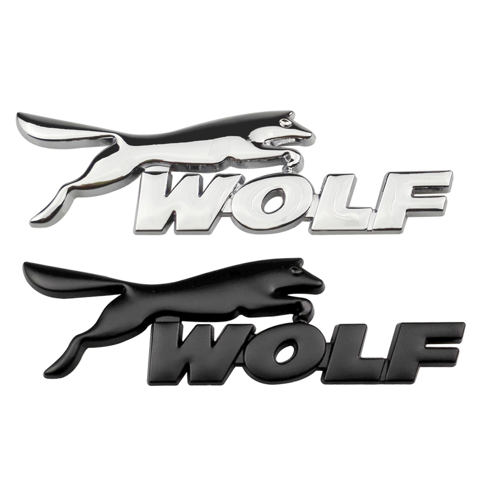 Wolf Badge Emblem Car Styling Trunk Decoration Sticker Decals for Ford Focus 2 Mondeo Kuga Fiesta Escort Mustang Explorer Excape