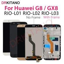 لهواوي G8 LCD عرض GX8 RIO L01 L02 L03 شاشة تعمل باللمس محول الأرقام استبدال لهواوي G8 LCD مع الإطار استبدال أجزاء