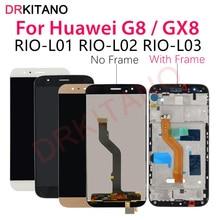 Per Huawei G8 Display LCD GX8 RIO L01 L02 L03 di Tocco Digitale Dello Schermo di Ricambio Per Huawei G8 LCD Con Cornice di Ricambio parti