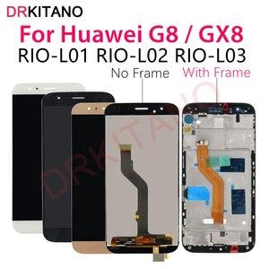 Image 1 - Voor Huawei G8 Lcd Display GX8 RIO L01 L02 L03 Touch Screen Digitizer Vervanging Voor Huawei G8 Lcd Met Frame Vervanging onderdelen