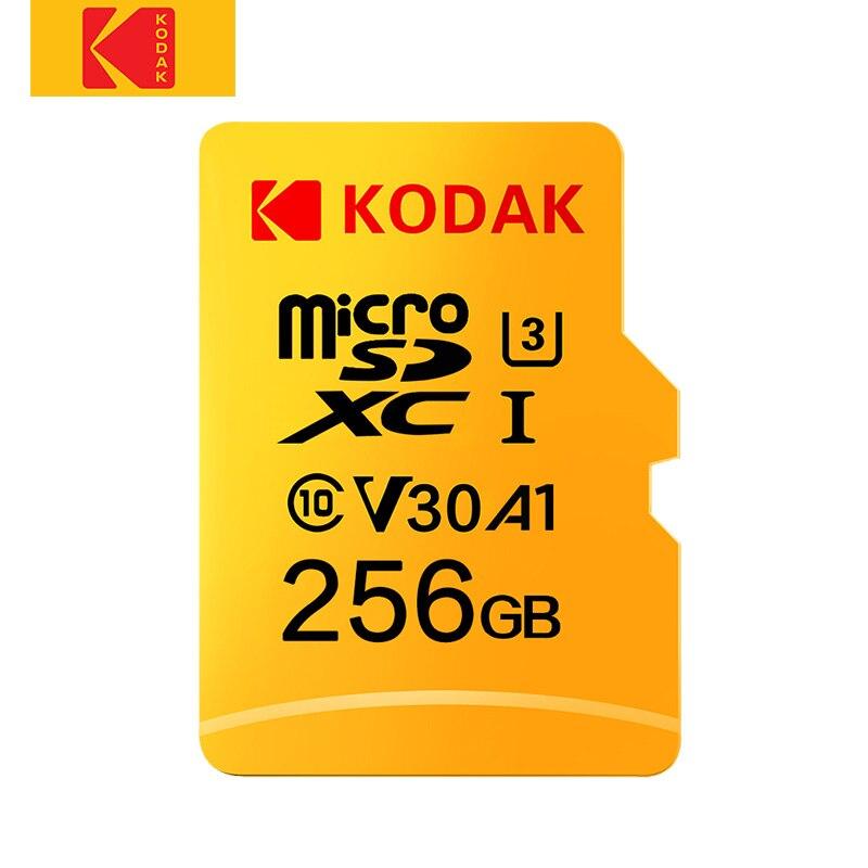 Kodak-tarjeta Micro SD 256GB Original Clase 10, 16 GB, 32 gb, 64GB, U3, 4K, tarjeta de memoria Flash de alta velocidad, 128gb, mecard C10