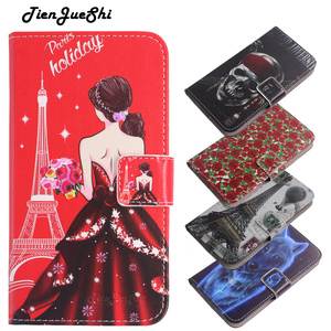 TienJueShi Flip Book Style Cartoon Patter Protect Leather Cover Phone Case For NUU a5L a6L Shell Wallet Etui Skin(China)