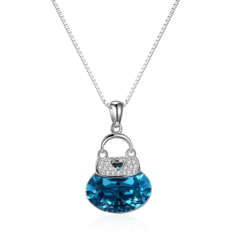 Haute qualité petit ours bleu pendentif mode femmes décontracté luxe collier 2019 nouveaux bijoux