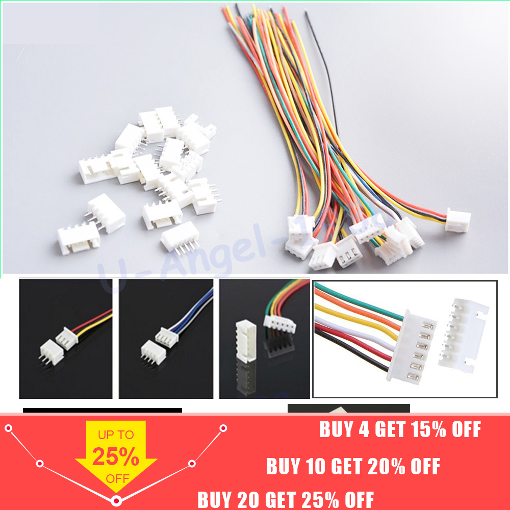 10 Pairs/lot 150mm RC Lipo Battery Balance Charger Plug 2S1P 3S1P 4S1P 5S1P 6S1P 7S1P Wire Line Cable With Male And Female Plug