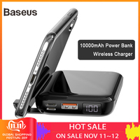 Baseus 10000mAh Power Bank 10W Wireless Charger And 18W Wired Fast Charger PD + QC3.0 Powerbank For iPhone Samsung Huawei